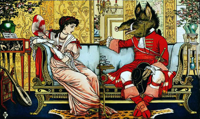 Beauty And The Beast (Walter Crane)