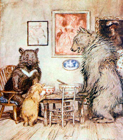 The Story Of The Three Bears (Arthur Rackham)