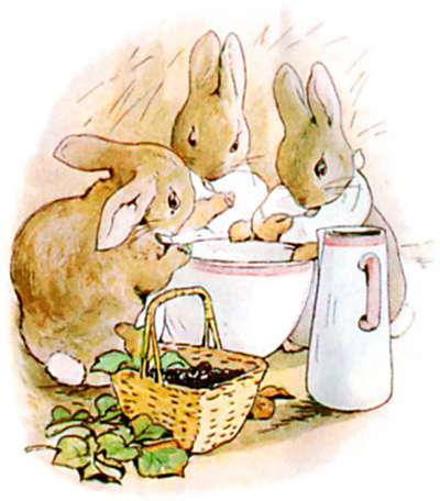 Image result for peter rabbit drinking tea